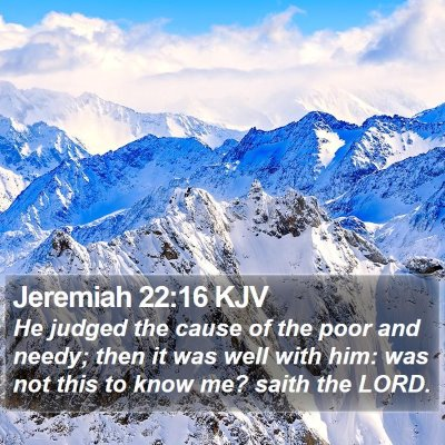 Jeremiah 22:16 KJV Bible Verse Image