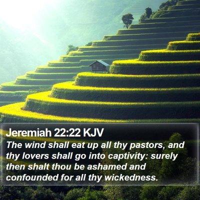 Jeremiah 22:22 KJV Bible Verse Image