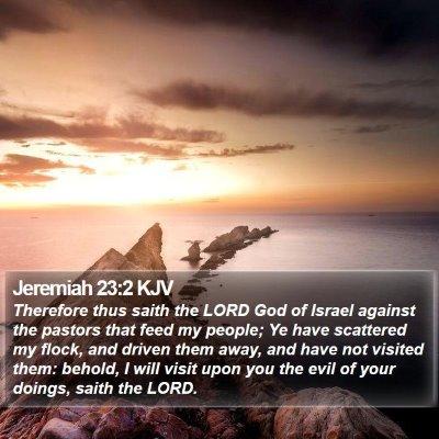 Jeremiah 23:2 KJV Bible Verse Image