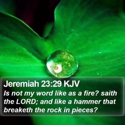 Jeremiah 23:29 KJV Bible Verse Image