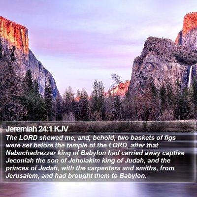 Jeremiah 24:1 KJV Bible Verse Image