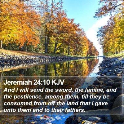 Jeremiah 24:10 KJV Bible Verse Image