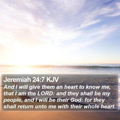 Jeremiah 24:7 KJV Bible Verse Image