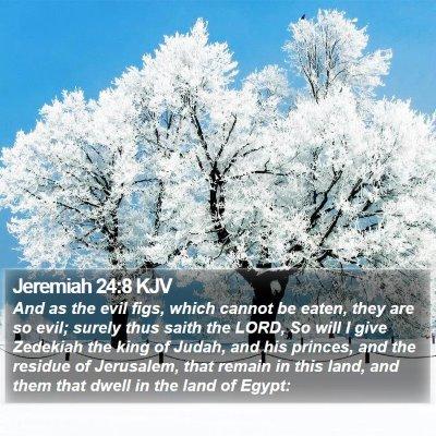 Jeremiah 24:8 KJV Bible Verse Image
