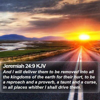 Jeremiah 24:9 KJV Bible Verse Image