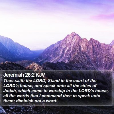 Jeremiah 26:2 KJV Bible Verse Image