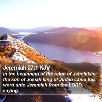 Jeremiah 27:1 KJV Bible Verse Image