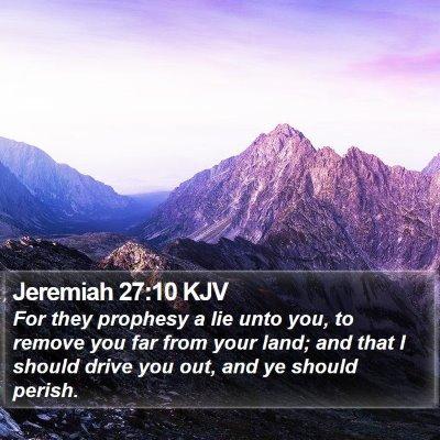 Jeremiah 27:10 KJV Bible Verse Image