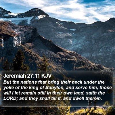 Jeremiah 27:11 KJV Bible Verse Image