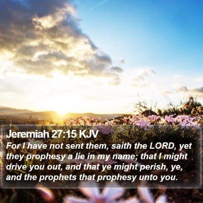 Jeremiah 27:15 KJV Bible Verse Image