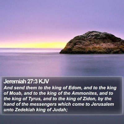 Jeremiah 27:3 KJV Bible Verse Image