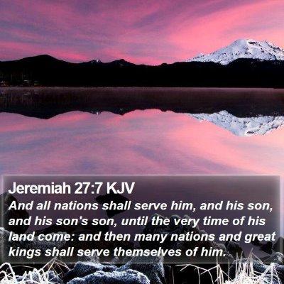 Jeremiah 27:7 KJV Bible Verse Image