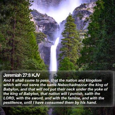 Jeremiah 27:8 KJV Bible Verse Image