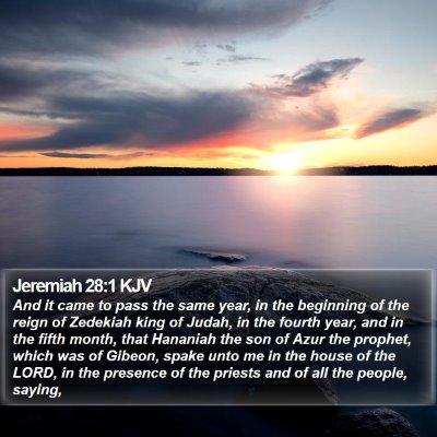 Jeremiah 28:1 KJV Bible Verse Image
