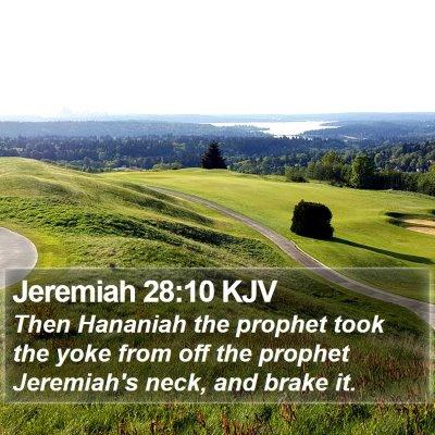 Jeremiah 28:10 KJV Bible Verse Image