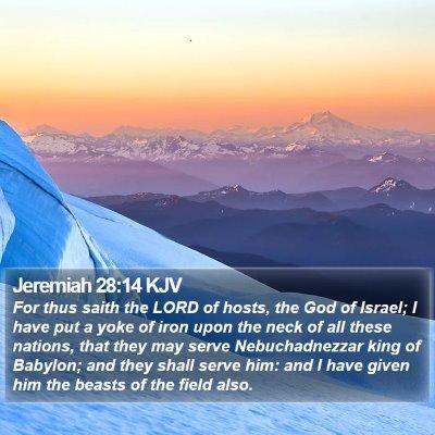 Jeremiah 28:14 KJV Bible Verse Image