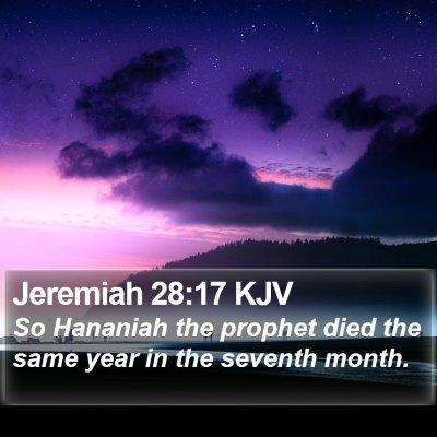 Jeremiah 28:17 KJV Bible Verse Image