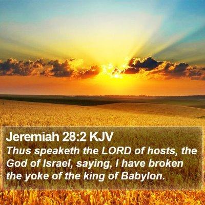 Jeremiah 28:2 KJV Bible Verse Image