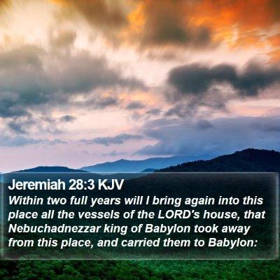 Jeremiah 28:3 KJV Bible Verse Image