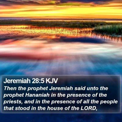 Jeremiah 28:5 KJV Bible Verse Image