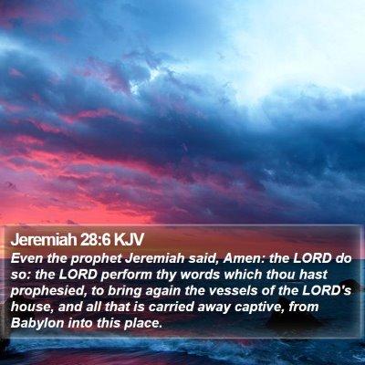 Jeremiah 28:6 KJV Bible Verse Image
