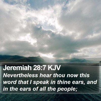 Jeremiah 28:7 KJV Bible Verse Image
