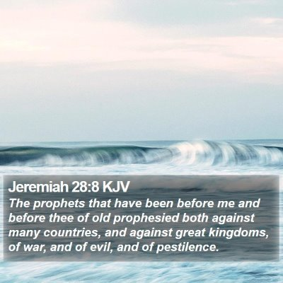 Jeremiah 28:8 KJV Bible Verse Image