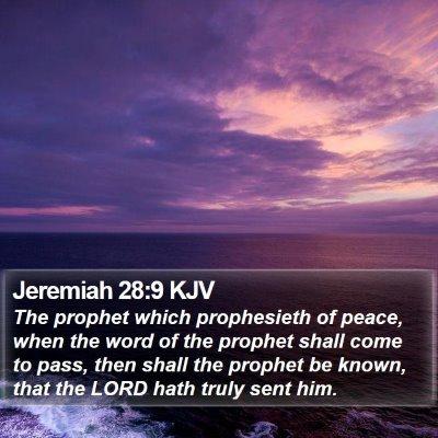 Jeremiah 28:9 KJV Bible Verse Image