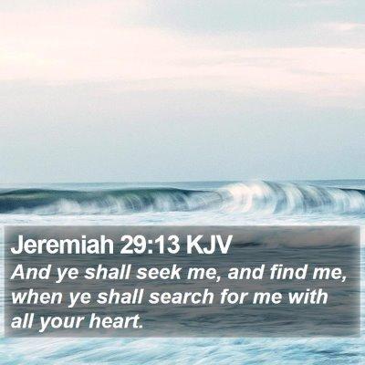 Jeremiah 29:13 KJV Bible Verse Image