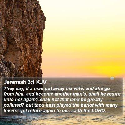 Jeremiah 3:1 KJV Bible Verse Image