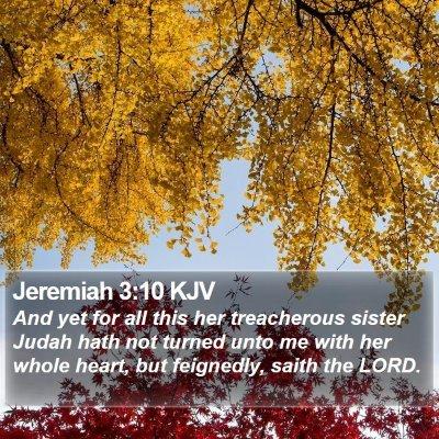 Jeremiah 3:10 KJV Bible Verse Image