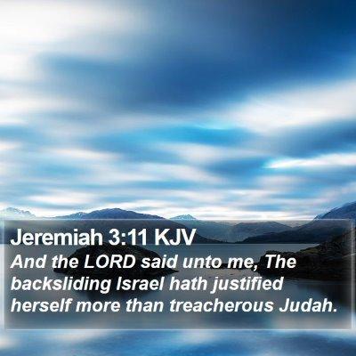 Jeremiah 3:11 KJV Bible Verse Image