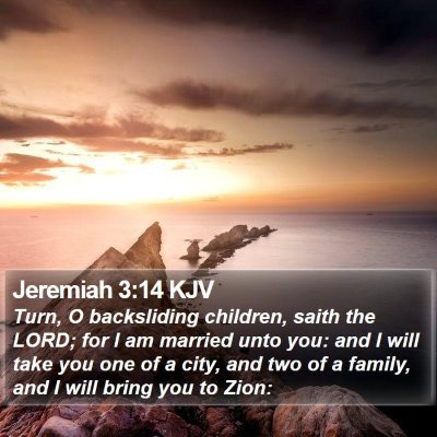 Jeremiah 3:14 KJV Bible Verse Image