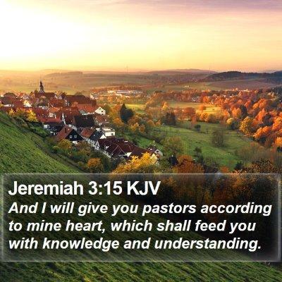 Jeremiah 3:15 KJV Bible Verse Image