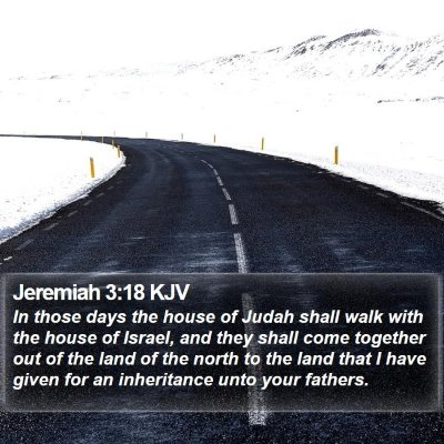 Jeremiah 3:18 KJV Bible Verse Image