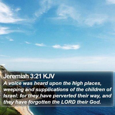 Jeremiah 3:21 KJV Bible Verse Image