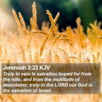 Jeremiah 3:23 KJV Bible Verse Image