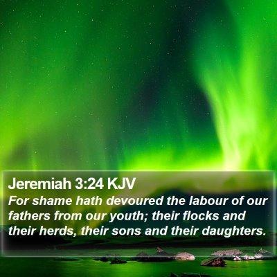 Jeremiah 3:24 KJV Bible Verse Image