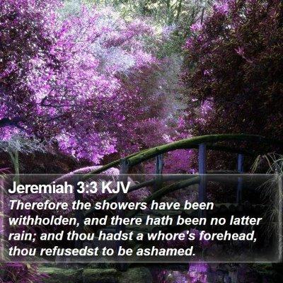 Jeremiah 3:3 KJV Bible Verse Image
