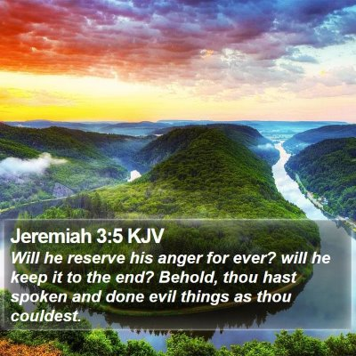 Jeremiah 3:5 KJV Bible Verse Image