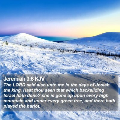 Jeremiah 3:6 KJV Bible Verse Image
