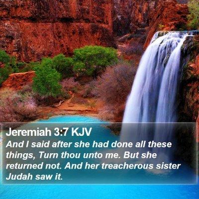 Jeremiah 3:7 KJV Bible Verse Image