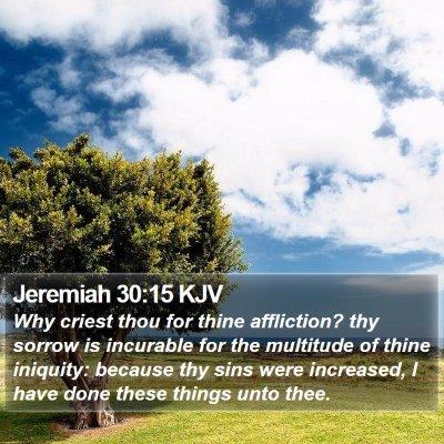 Jeremiah 30:15 KJV Bible Verse Image