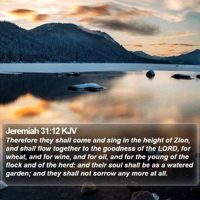 Jeremiah 31:12 KJV Bible Verse Image