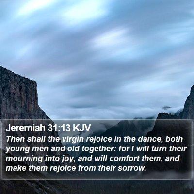 Jeremiah 31:13 KJV Bible Verse Image