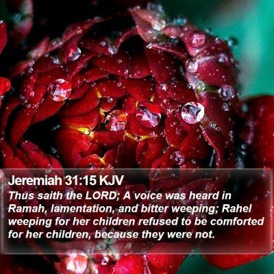 Jeremiah 31:15 KJV Bible Verse Image