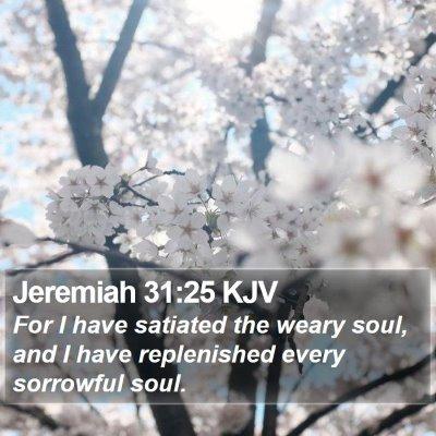 Jeremiah 31:25 KJV Bible Verse Image