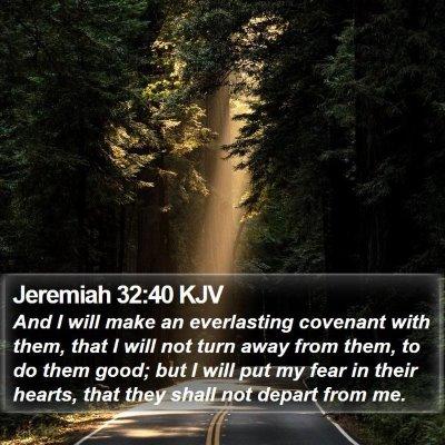 Jeremiah 32:40 KJV Bible Verse Image