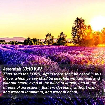 Jeremiah 33:10 KJV Bible Verse Image