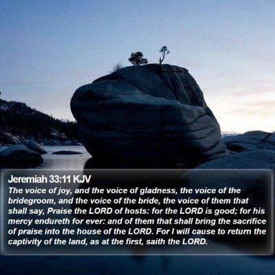 Jeremiah 33:11 KJV Bible Verse Image